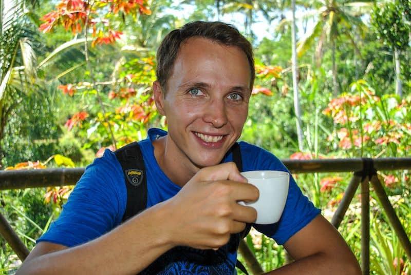 Drinking Coffee Luwak Bali