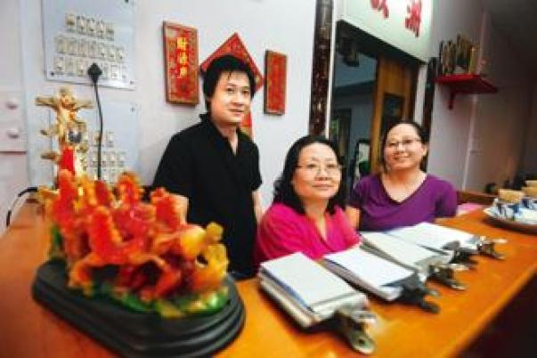 Long journeys: (From left) Joel, Josephine and Jennifer Huang of Eau Chew. Photo: Indranil Bhoumik/Mint. Source ~ livemint.com