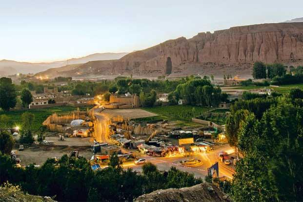 Bamiyan city by night. Photo: Naimat Rawan