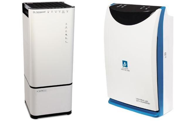 Eureka Forbes Dr. Aeroguard SCPR 700; and Atlanta Healthcare Universal 450 (right).