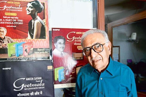 Ameen Sayani . Photo: Vijayanand Gupta/Hindustan Times