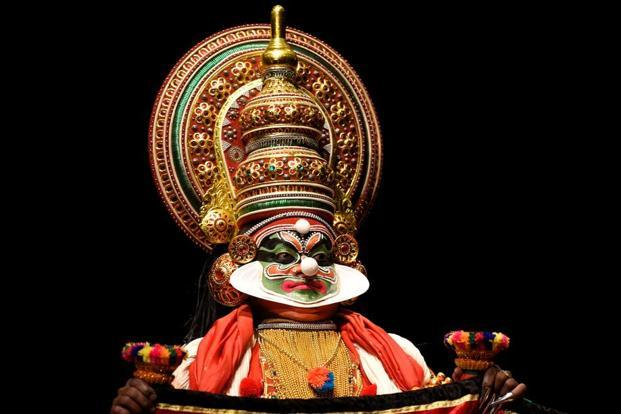 Kathakali involves saccade, or when the eyes move from one fixed point to the other. Photo: Reuters