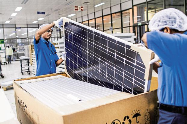 Any increase in solar module prices will impact the internal rate of return (IRR) from such solar power projects, many of which have already signed power purchase agreements (PPAs). Photo: Bloomberg