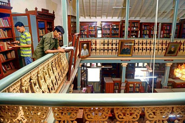 The upper level of the main reading room. Photo: Abhijit Bhatlekar/Mint