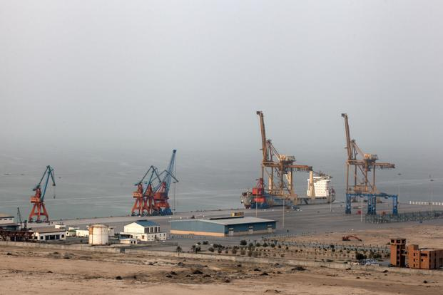 China-Pakistan Economic Corridor gives China a foothold in the western Indian Ocean with the Gwadar port, located near the strategic Strait of Hormuz. Photo: Bloomberg