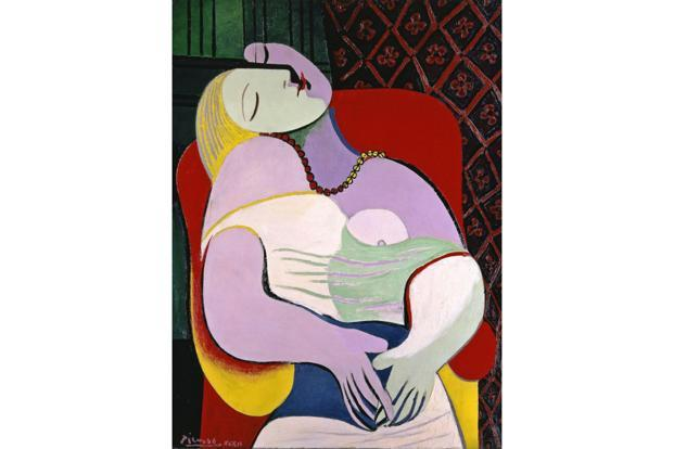 Picasso's 'Le Rêve' (1932), the erotic content of which is evident in the woman's face.