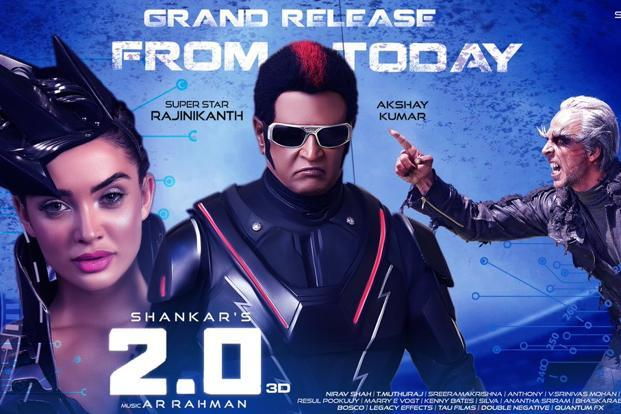 2.0 Movie Second Day 1st Friday Box Office Collection Income Earning
