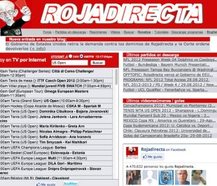home page di Rojadirecta