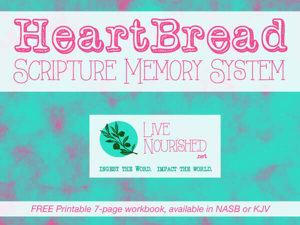 HeartBread Scripture Memory System - Hear It, Know It, Live It