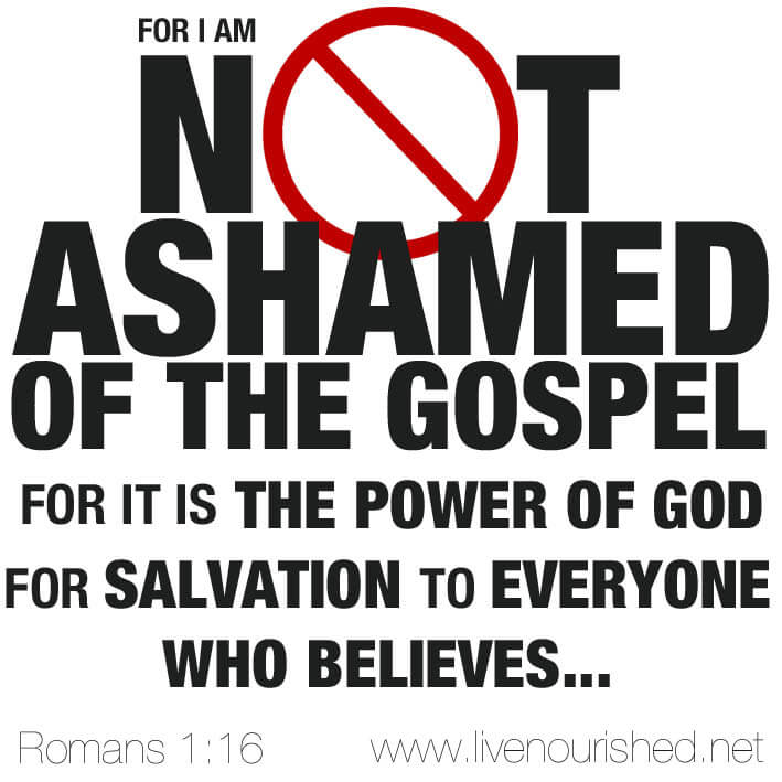 I'm Not Ashamed! Are you?