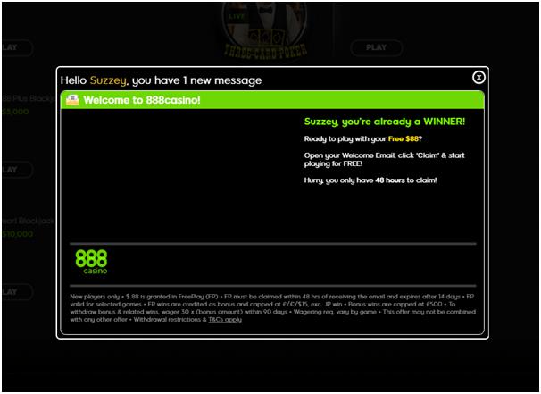 888 casino- no deposit