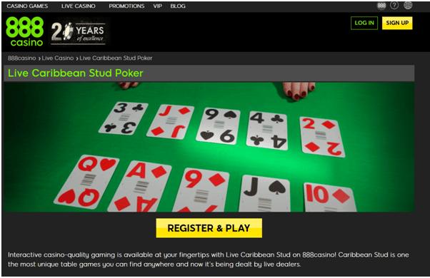 Where to play Caribbean Stud Poker