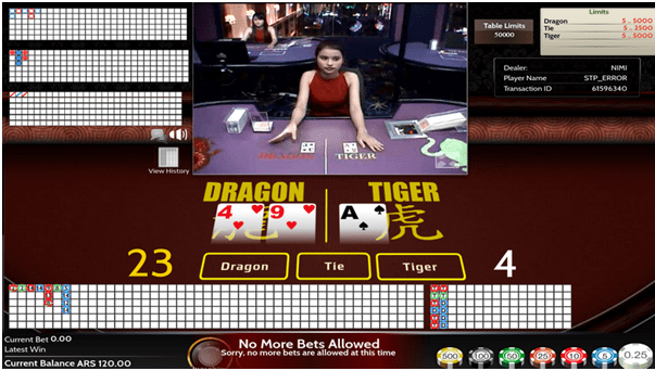 Dragon Tiger- Live Dealer game - How to play