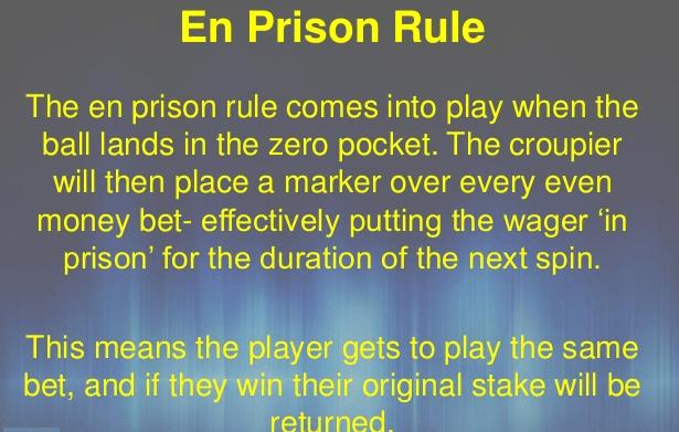 En Prison Rule