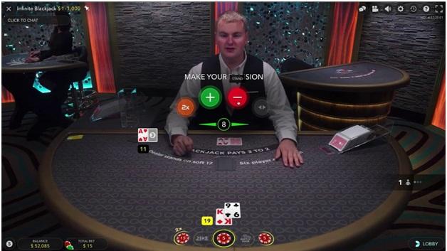 Infinite Blackjack Live Table