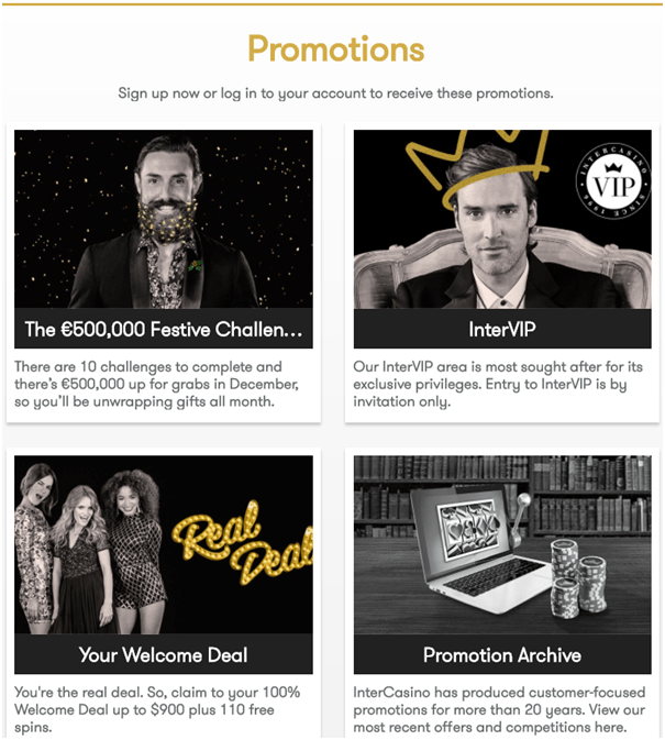 Intercasino-Promotions