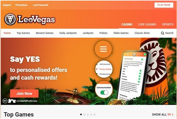 Leo Vegas casino Canada deposits and withdrawals