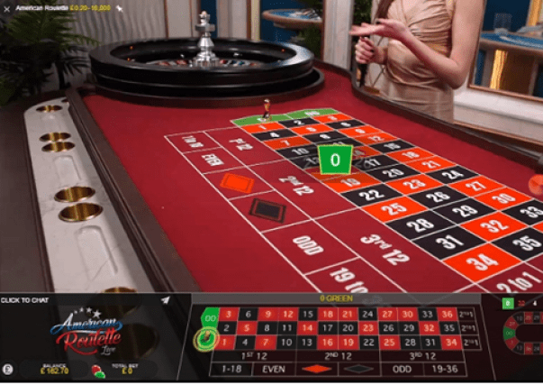 Live American Roulette- bets