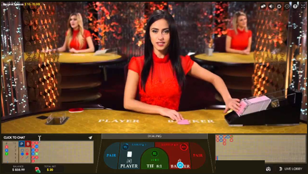 Live Baccarat eSqueeze- Play online at Play Now Canada Live Casino