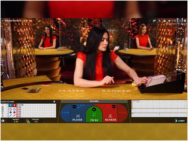 Live Baccarat game to play with real money