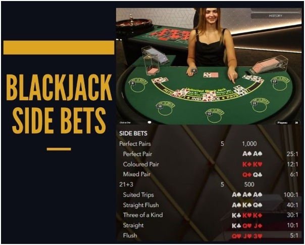 What are Live Dealer Blackjack Side Bets?