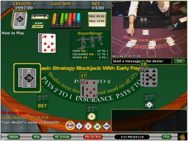 How to play Live Blackjack with early payouts