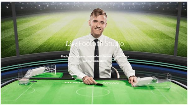 Live Football Studio game at live casino