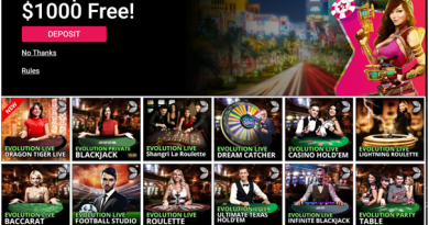 Live games at Spin Casino