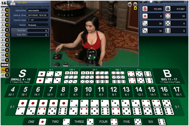 How to play Live Sic bo and best strategy to win the game at Live casino