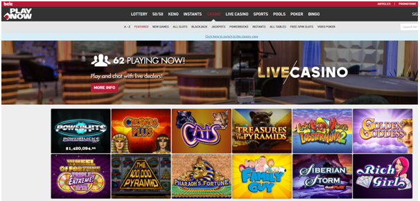 Play Now casino games