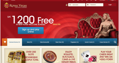 Royal Vegas Casino Bonus $1200