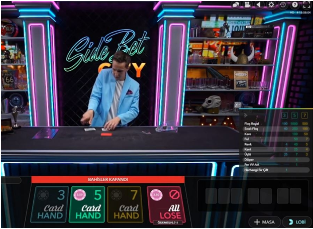 Side Bet City Live Game
