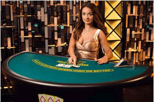 Three card poker- Live casino game