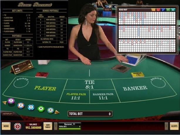 Live Dealer Baccarat-Platinum Play
