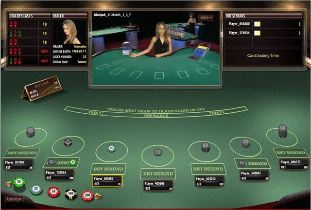 Live Dealer Blackjack at Platinum Play