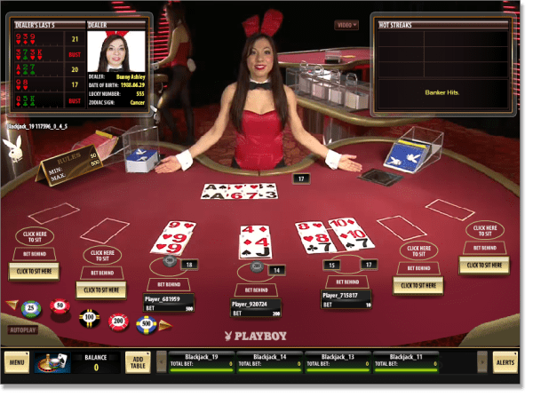 Live Dealer Blackjack at AllSlots
