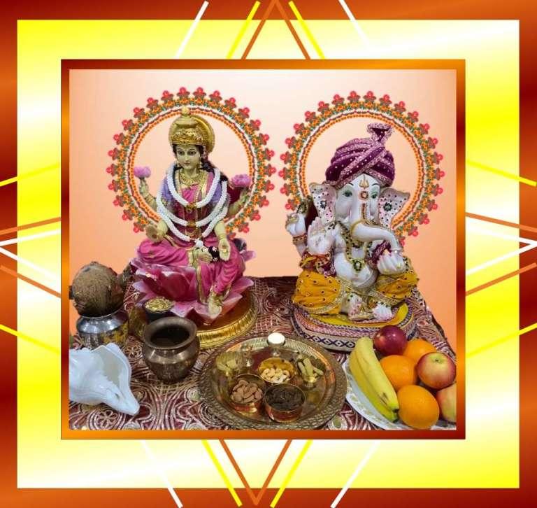 Diwali Puja Online Lakshmi Ganesha, Saraswati | Live Online Puja |
