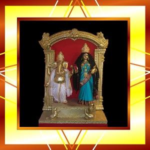 Mahalakshmi and Ganesha
