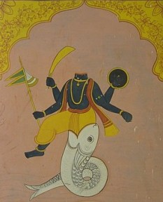 Ketu Dev the lower body