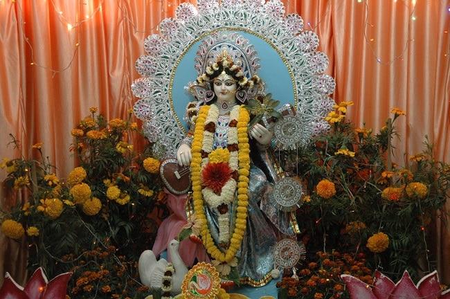Maa Saraswati Puja Pandal Celebration