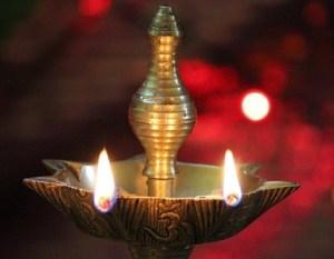 lamp or diya in mandir