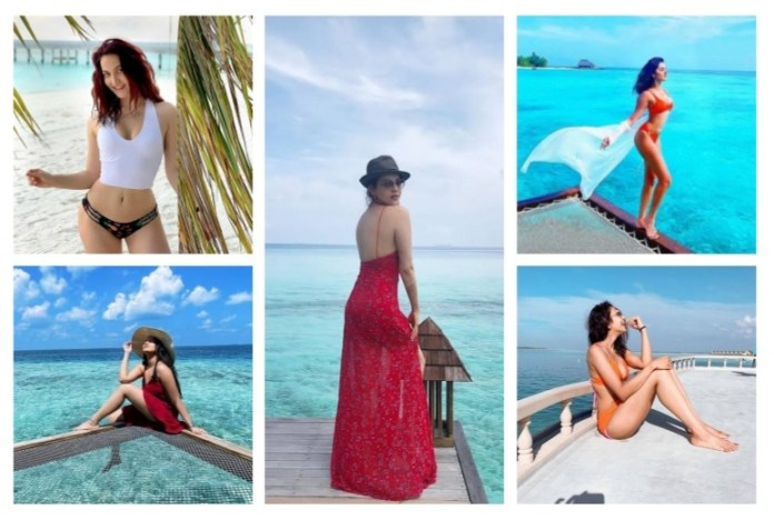 Bollywood and Tollywood Actresses Maldives in a bikini