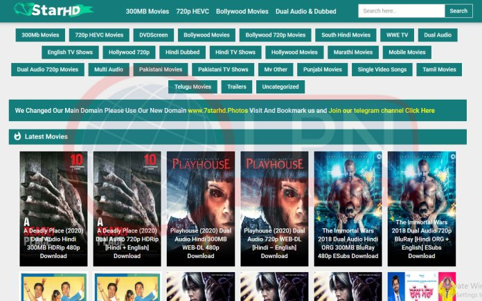 7starhd 2021 Hollywood & Bollywood Movies Download Websites