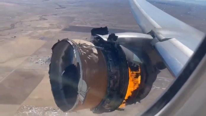 United Airlines Flight Engine Failure