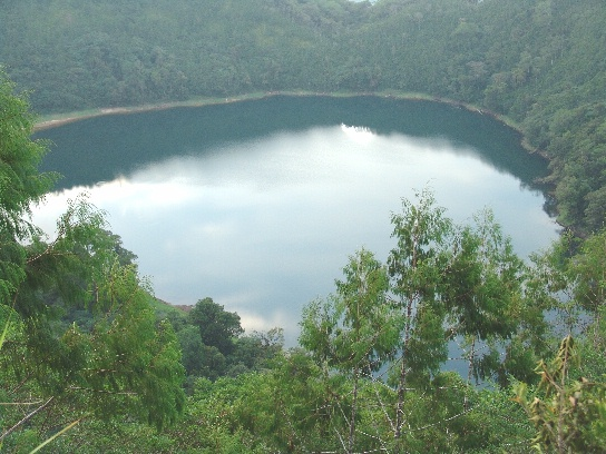 Lake Pung on Umboi Island in Papua New Guinea