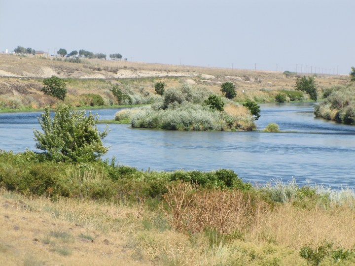 Yakima River, north of Benton City, WA - photo taken on August 6, 2014
