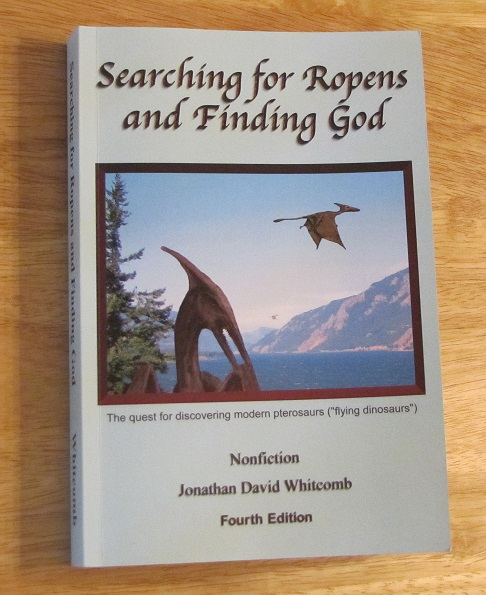 "non-fiction 360-page paperback ""Searching for Ropens and Finding God"""