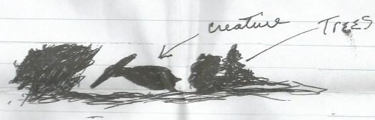 Mansfield, Ohio, pterosaur sighting - eyewitness's sketch