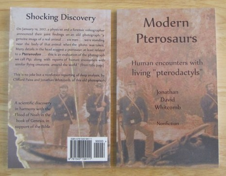 "Jonathan Whitcomb's cryptozoology book ""Modern Pterosaurs"""