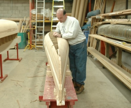 canoe building with Tom Payne